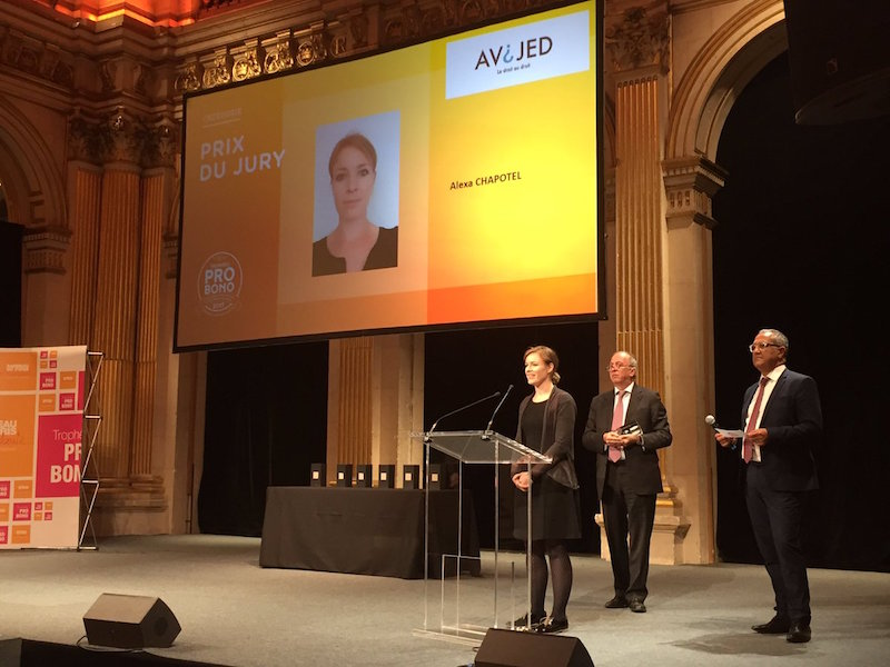 Alexa Chapotel - Prix spécial du jury - Trophées Pro Bono du Barreau de Paris
